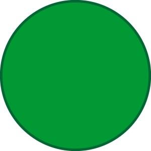 Möbiusband grüner Punkt