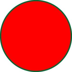 Möbiusband roter Punkt