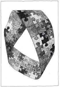Möbiusband_Eriksen_Möbiusbänder_01_Zeichnung_Das Möbiusbandpuzzle