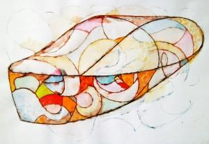 Möbiusband_Eriksen_Möbiusbänder_01_Zeichnung_Lavierte-Federzeichung_Titelblatt 1