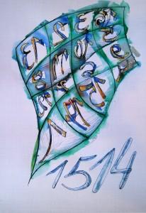 _01_Zeichnung_Magisches Quadrat gemäß Dürer