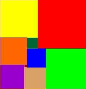 Neun Quadrate